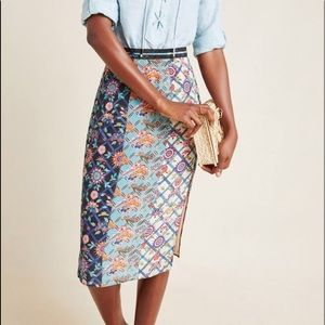 Anthropologie Tanvi Kedia Azure Pencil Skirt 00
